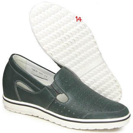 (201405新品)夏冬系列07417亞面透氣涼鞋6.0cm增高GOG高哥隱形增高鞋內增高鞋