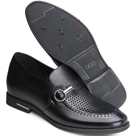 (201405新品)夏冬系列31044邊扣軟面涼鞋6.5cm增高GOG高哥隱形增高鞋內增高鞋