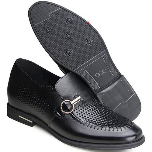 ^(201405新品^)夏冬系列31044邊扣軟面涼鞋6.5cm增高GOG高哥隱形增高鞋內