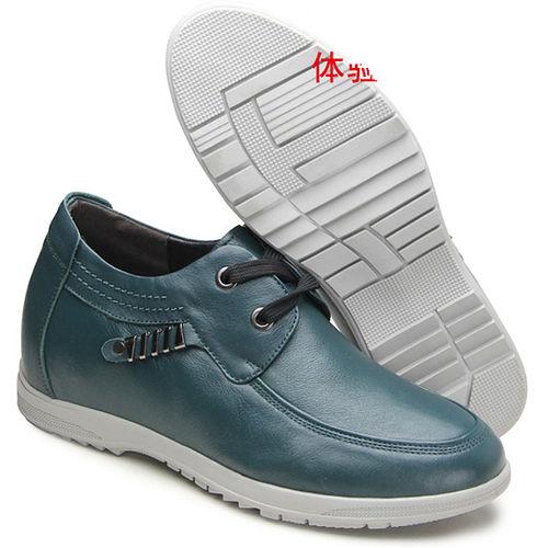 ^(201405新品^)休閒系列18545英倫軟面7.0cm增高GOG高哥隱形增高鞋內增高