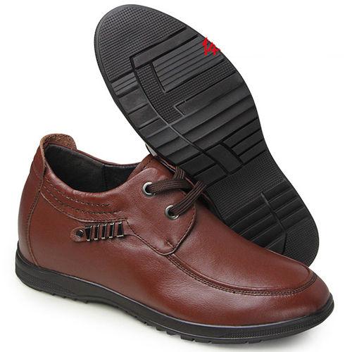 ^(201405新品^)休閒系列28545英倫軟面7.0cm增高GOG高哥隱形增高鞋內增高