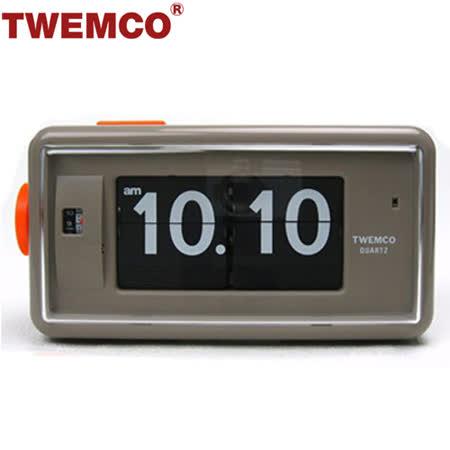 【TWEMCO】機械式 翻頁鐘 復古收藏 方形鬧鐘夜燈功能 (AL-30 灰色)