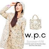 【w.p.c.】星星釦子款。時尚雨衣/風衣(R1032)_卡其色