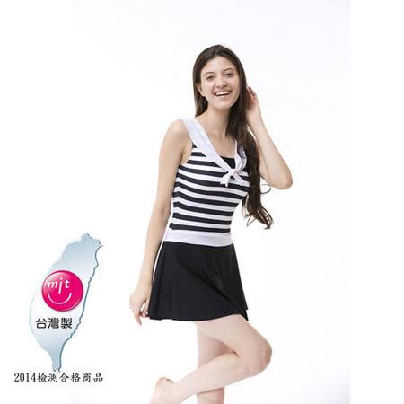 【Bich Loan】情戀連身裙泳裝附泳帽加贈白人旅遊組13006101