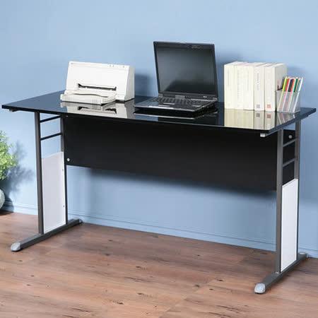 《Homelike》巧思辦公桌 炫灰系列-黑色亮面烤漆140cm