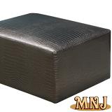MNJ-尊榮鱷魚皮紋彈簧沙發凳80*60cm(3色可選)
