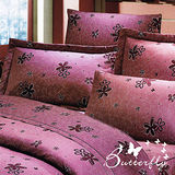 【BUTTERFLY】漫步花雨-紅 雙人四件式涼被床包組