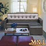 MNJ-華麗鱷魚皮紋獨立筒L型沙發(3色可選)
