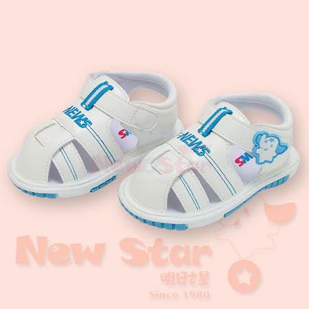 【聖哥-NEWS】啾啾涼鞋(高級防滑底)白藍  三種尺碼可選