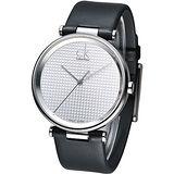 cK 經典英式潮男時尚腕錶-銀白 K1S21120