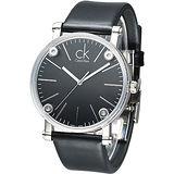 cK 科技透視鏡面造型時尚男錶-黑 K3B2T1C1