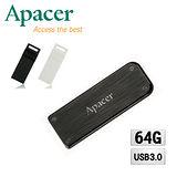 【買大送小】Apacer宇瞻 AH325 64GB 墨客隨身碟 送 8GB AH110 防水袖珍隨身碟
