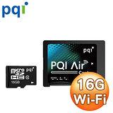 PQI Air系列 Wi-Fi 16G MicroSDHC 記憶卡