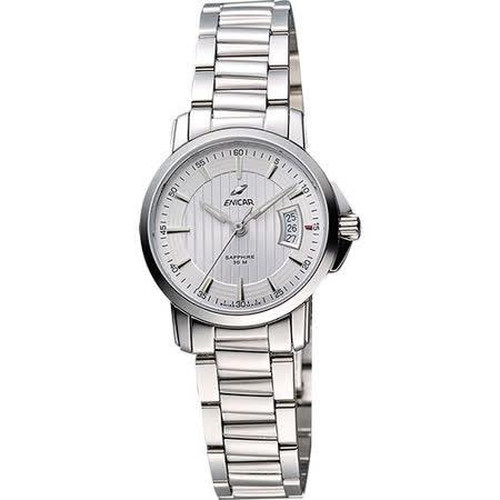 ENICAR 英納格 經典時尚系列石英女錶-銀 956-30-281aA