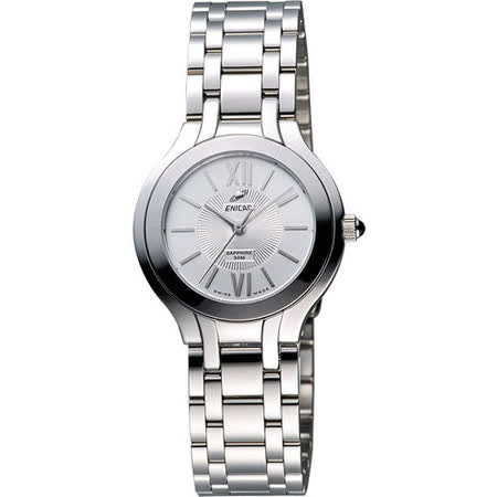 ENICAR 英納格 典藏時尚石英女錶-銀 263-31-128aA