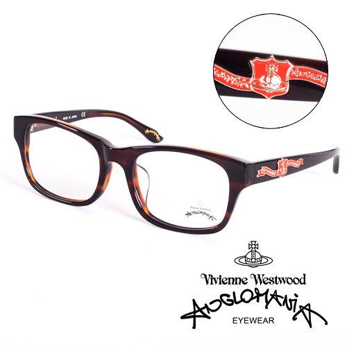 Vivienne Westwood 英國Anglomania英倫龐克徽章光學眼鏡^(琥珀^