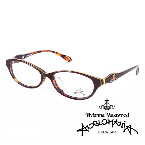 Vivienne Westwood 英國Anglomania英倫龐克土星環光學眼鏡^(咖啡