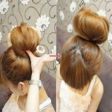 【PS Mall】丸子頭 包頭 甜甜圈 簡易變髮 髮圈 髮包_2入 (H256)