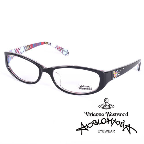 Vivienne Westwood 英國薇薇安魏斯伍德土星環施華洛世奇鑽點綴款^(黑 格紋