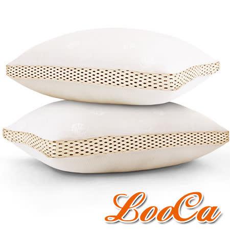 【LooCa】時尚版-透氣超釋壓獨立筒枕1入(流沙金)