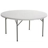 【免工具】圓形4尺寬度-對疊圓形折疊桌/餐桌/工作桌/野餐桌/洽談桌(1入/組)