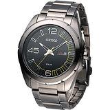SEIKO SOLAR 新世代光能充電時尚男錶-全IP黑 SNE287P1