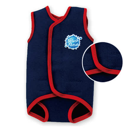 潑寶 Splash About - BabyWrap 包覆式保暖泳衣- 海軍藍 / 紅色