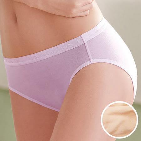 【華歌爾】環保天然纖維天絲內褲M-LL中高腰三角褲(粉膚桔)