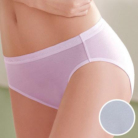 【華歌爾】環保天然纖維天絲內褲M-LL中高腰三角褲(冰點藍)