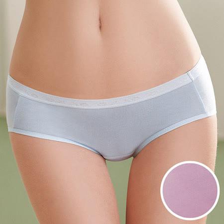 【華歌爾】環保天然纖維天絲內褲M-LL中腰三角褲(水晶紫)
