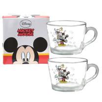 Disney經典米奇玻璃杯455cc二入組