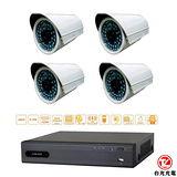 台光光電 DIY 4路成組專業室內監視設備(DR04SH+CA748S)