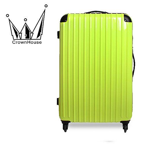 【Crownhouse】繽紛STYLE~輕量PC鏡面加大行李箱24吋(清新綠)