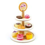 德國Hape愛傑卡-下午茶系列甜心蛋糕塔