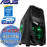 華碩H97平台【極速動能】Intel第四代i7四核 GTX750-1G獨顯 1TB燒錄電腦