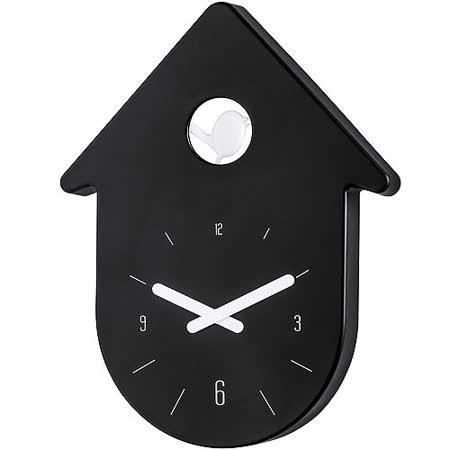《KOZIOL》布穀鳥壁面時鐘(黑)