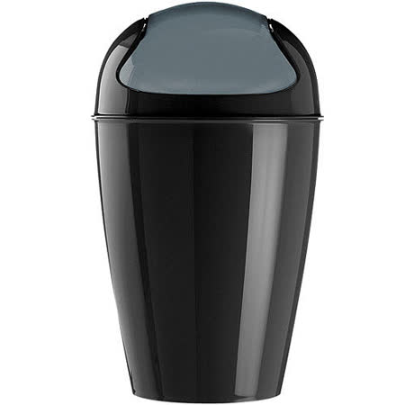 《KOZIOL》搖擺蓋垃圾桶(黑XL)