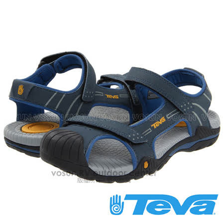 【美國 TEVA】兒童 CHILDREN'S TOACHI 2 水陸護趾涼鞋/休閒運動款/ TV1003702NAVY 藍/灰