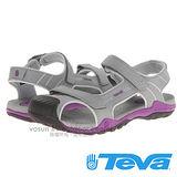 【美國 TEVA】兒童 CHILDREN'S TOACHI 2 水陸護趾涼鞋/休閒運動款.非Chaco/ TV1003702GPRP 灰/紫