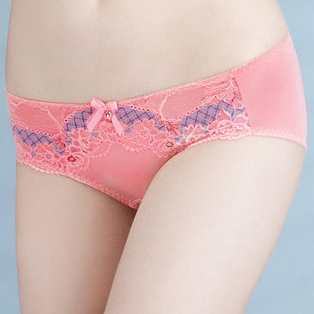 【Audrey】夢蝶風華 中低腰平口褲(粉橙色)