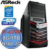 華擎H97平台【武鬥判官】Intel第四代i7四核 N760-2G獨顯 1TB燒錄電腦