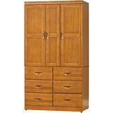 日式量販-緹香檜色4X7尺衣櫃