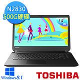 TOSHIBA C40-B-007002 14吋 雙核心N2830 4G 500GB 輕薄文書效能筆電 (黑) 【贈原廠筆電包】
