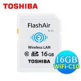 TOSHIBA 東芝 FlashAir 16GB SDHC Class10 無線傳輸記憶卡(平輸)