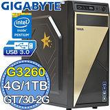 技嘉B85平台【闇影殺手II】Intel第四代G系列雙核 GT730-2G獨顯 1TB燒錄電腦