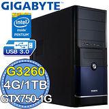 技嘉B85平台【闇影圓武】Intel第四代G系列雙核 GTX750-1G獨顯 1TB燒錄電腦
