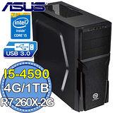 華碩B85平台【魔幻冰閻】Intel第四代i5四核 R7260X-OC-2GD5獨顯 1TB燒錄電腦