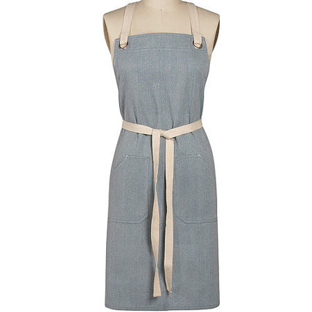 《DANICA》雙口袋圍裙(丹寧藍)