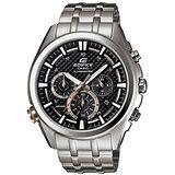 CASIO EDIFICE 霓彩時尚計時碳纖維賽車錶(黑/45mm) EFR-537D-1AV