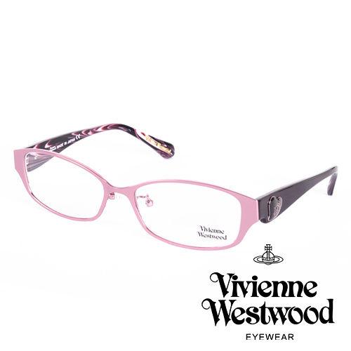 Vivienne Westwood 英國薇薇安魏斯伍德 格紋愛心土星環款^(粉紅 黑^)V